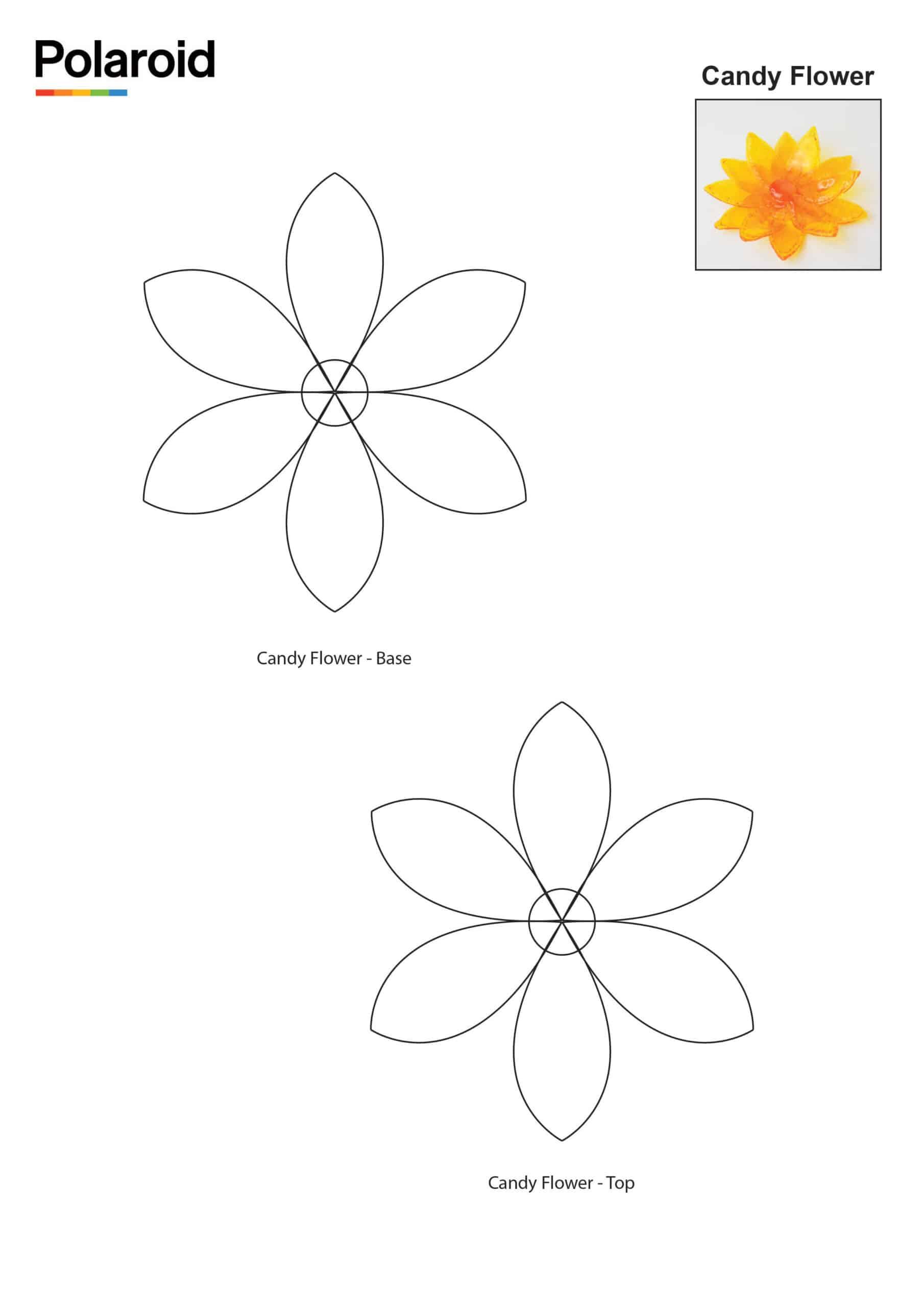 Candy Pen Stencil – Flower