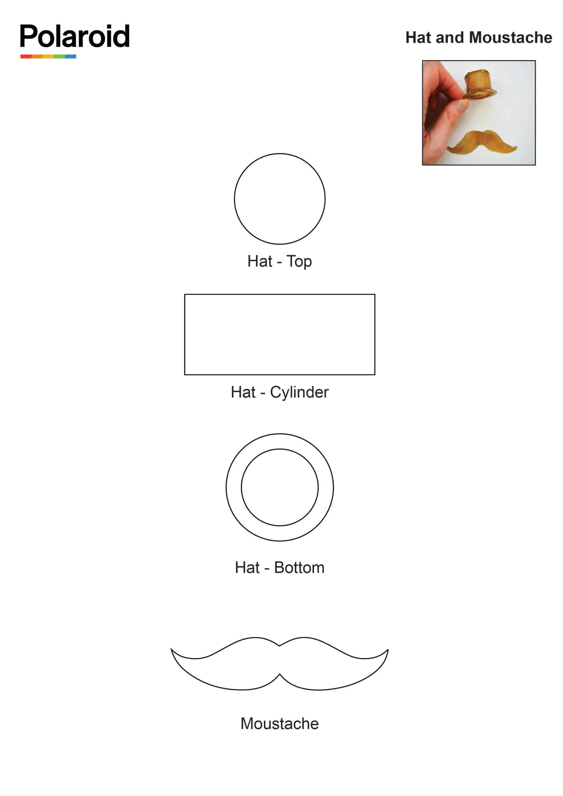 Candy Pen Stencil – Hat and Moustache