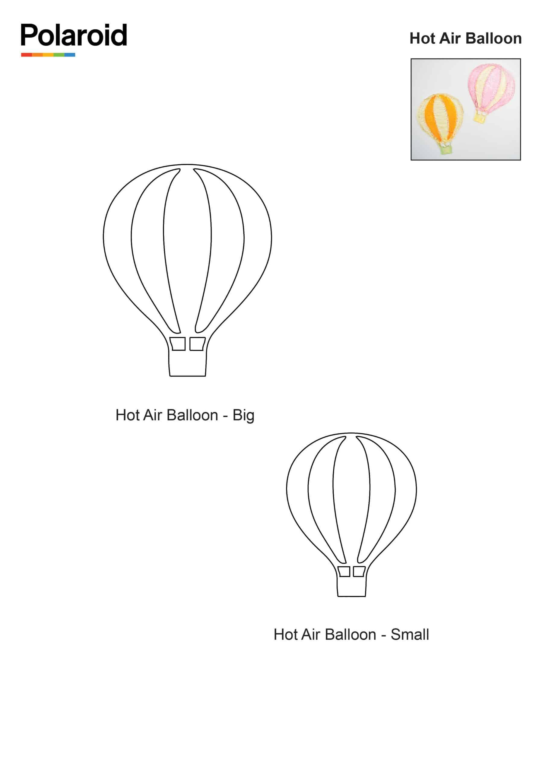Candy Pen Stencil – Hot Air Balloon