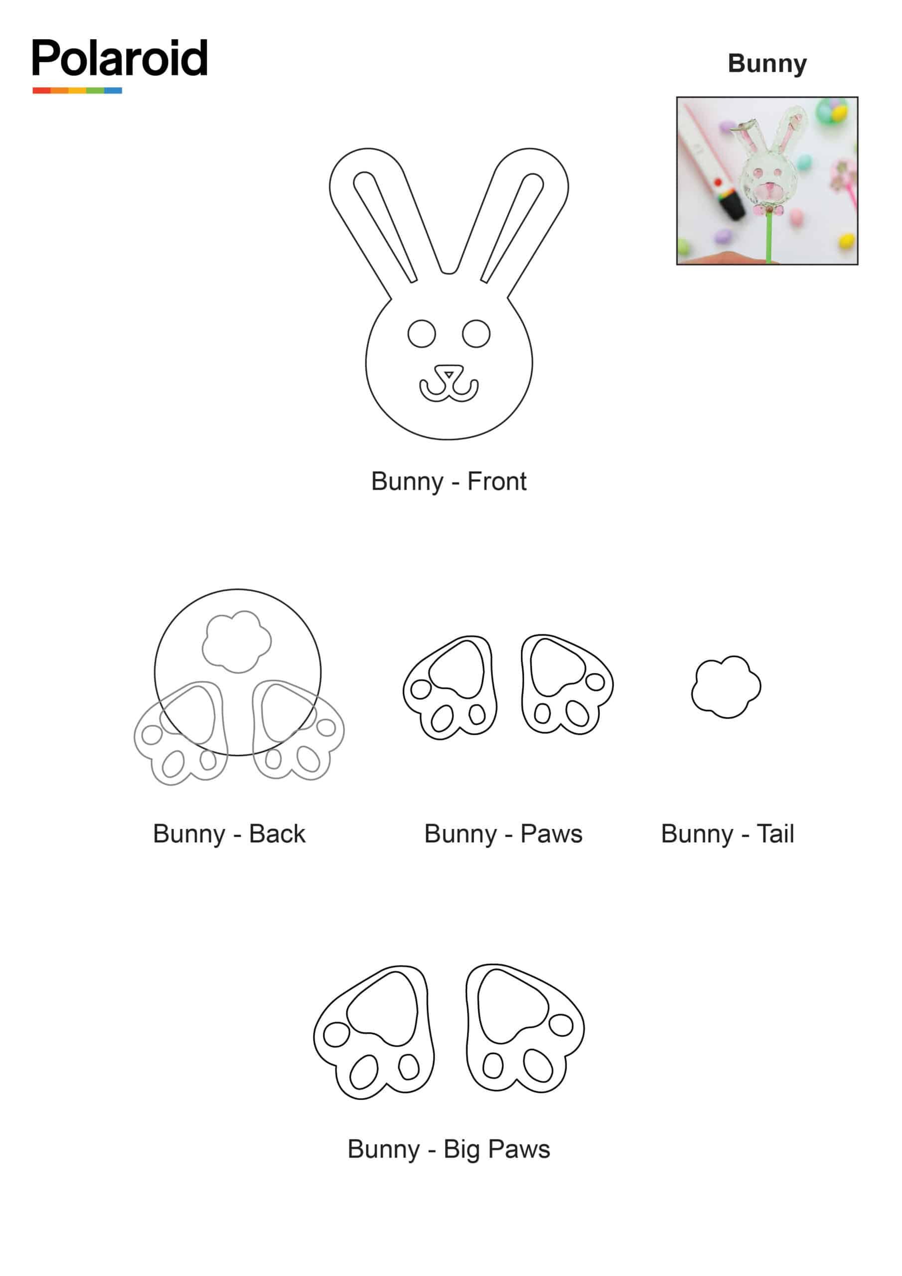 Candy Pen Stencil – Bunny