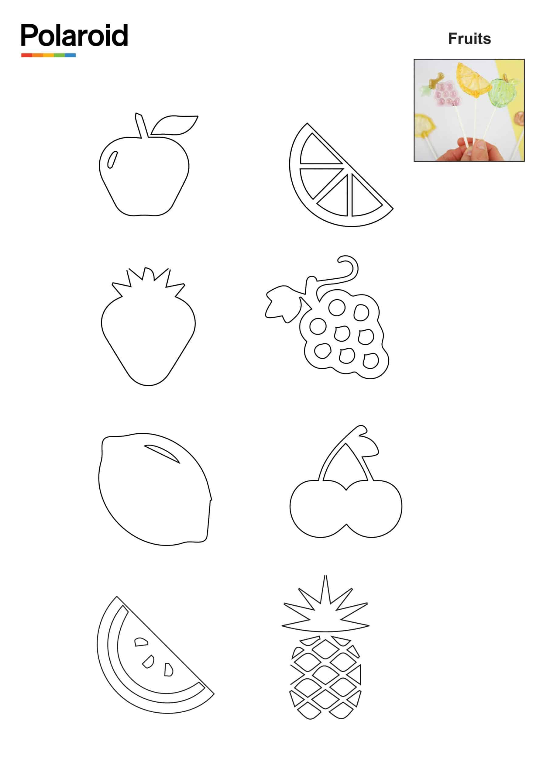 Candy Pen Stencil – Fruits