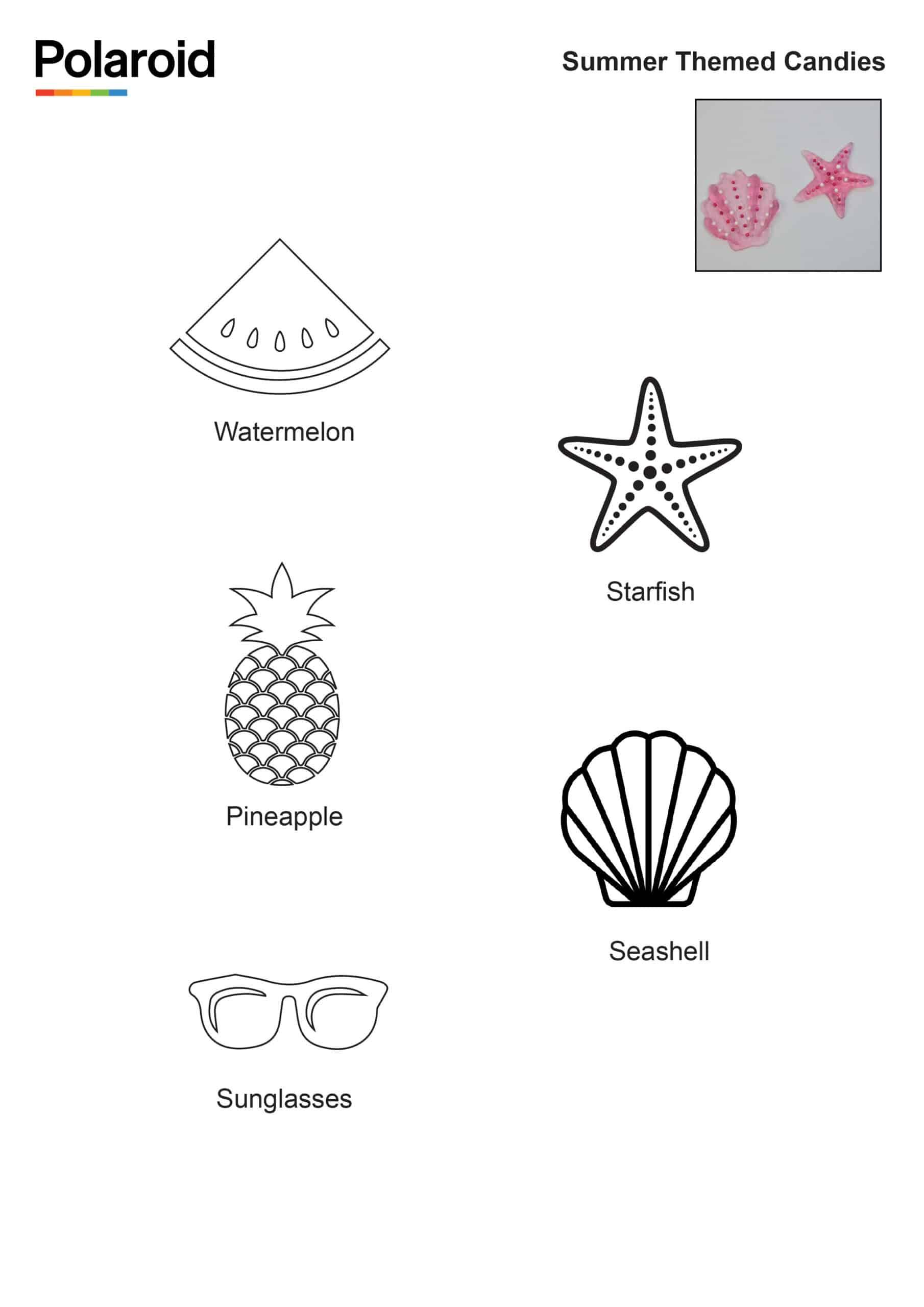 Candy Pen Stencil – Summer themed candies