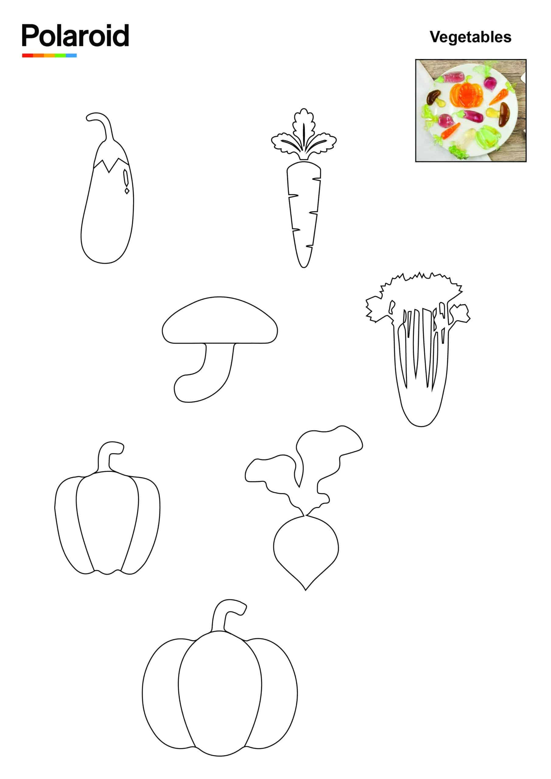 Candy Pen Stencil – Vegetables