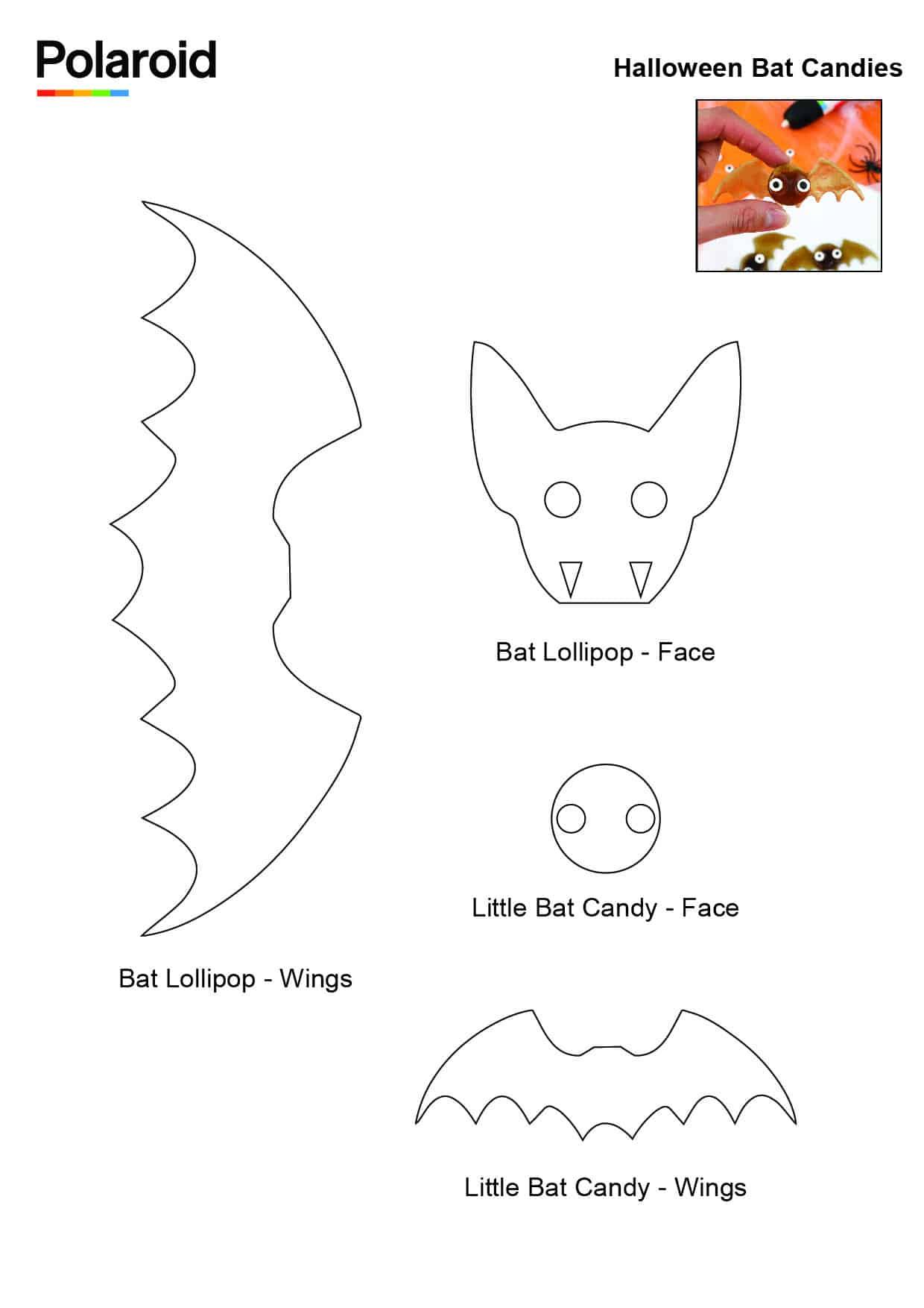Candy Pen Stencil – Halloween Bat Candies