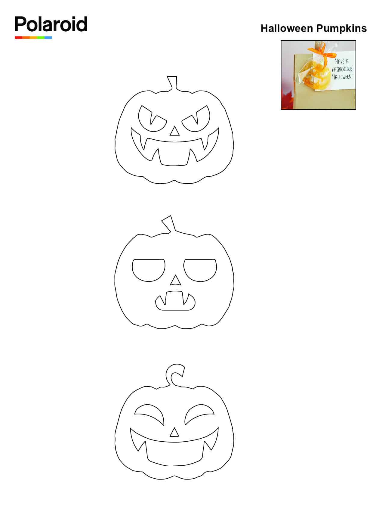Candy Pen Stencil – Halloween Pumpkins